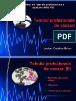 Tehnici de Vanzari - Proiect