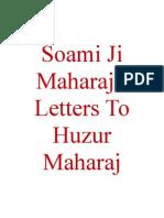 Soami Ji Maharaj's Letters To Huzur Maharaj
