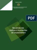 Recueil des lois relatives à la protection de l'environnement (Maroc)