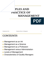 Principles and Practice of Management