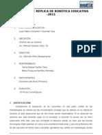 PROYECTO DE RÉPLICA de ROBOTICA EDUCATIVA
