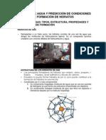 Contenido de agua y predicción de condiciones de formación de hidratos