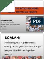 Rancangan Integrasi Murid Untuk Perpaduan