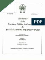 Escritura de Constitucion de Sociedad Inscrita