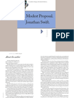 Jonathan Swift A Modest Proposal