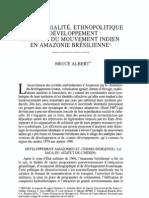 ALBERT - 1997 - Territorialité, ethnopolitique et developpement à propos du mouvement indien en Amazonie brésilienne