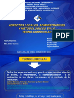 Aspectos Legales Curriculum