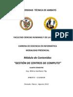 modulo CONTENIDOS TEÓRICOS.- GESTIÓN DE CENTROS DE CÓMPUTO
