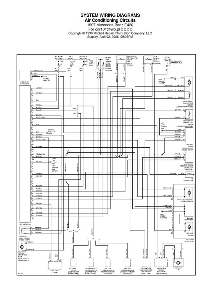 Mercede Benz E 420 Fuse Box Diagram - Wiring Diagrams