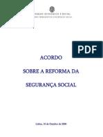 Acordo Reforma Seguranca Social Out2006