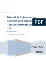 Manual de Instalación de Software para calculadora Texas Instruments Voyage 200