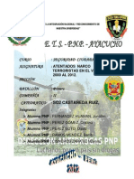 ATENTADOS NARCOTERORISTAS VRAE - 2012