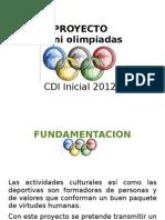 Presentacion Mini Olimpiadas