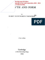 4522.on Growth and Form. the Complete Revised Edition by D'Arcy Wentworth Thompson