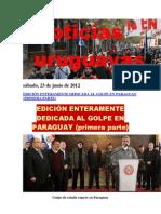 Noticias Uruguayas sábado 23 de junio del 2012