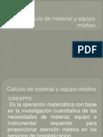 Calculo de Material y Ropa