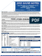 Bluefield Blue Jays Game Notes 6-23