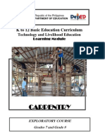 k to 12 Carpentry Learning Modules