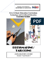 k to 12 Dressmaking and Tailoring Learning Modules