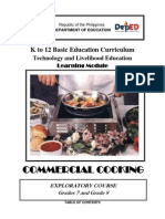 k to 12 Commercial Cooking Learning Module