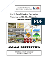 k to 12 Animal Production Learning Module