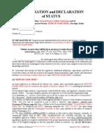 4 Asseveration of Status Spc Debtor