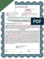 A1 Blue Border - Birth Certificate Bond