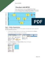 BPMN's 5steps to Draw a Flowchart