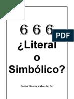 666 Literal o Simbolico