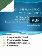 9. Modelos Determinísticos & Estocásticos I