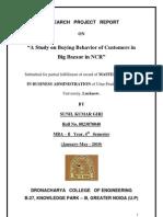 Big Bazzar Research Project