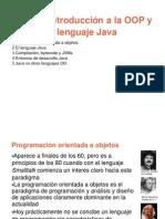 Tema 1 Introducción a la OOP  y lenguaje en java