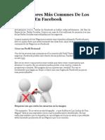 Los 7 Errores Más Comunes De Los Negocios En Facebook