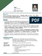 Curriculum Vitae Subash Saraf