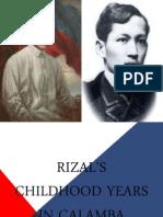 Rizal, Chidhood Years in Calamba