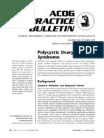 Ovario Poliquístico/Polycystic Ovary Syndrome