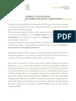 2012 Resumen y conclusiones_Reunión Directores_ Decanos_Ministerio