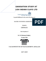 ORGANISATION STUDY AT ENGLISH INDIAN CLAYS LTD