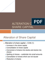 Alteration of Share Capital
