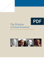 The Wisdom of Great Investors