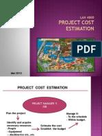 Cost Project Estimation 2012-Lan4800