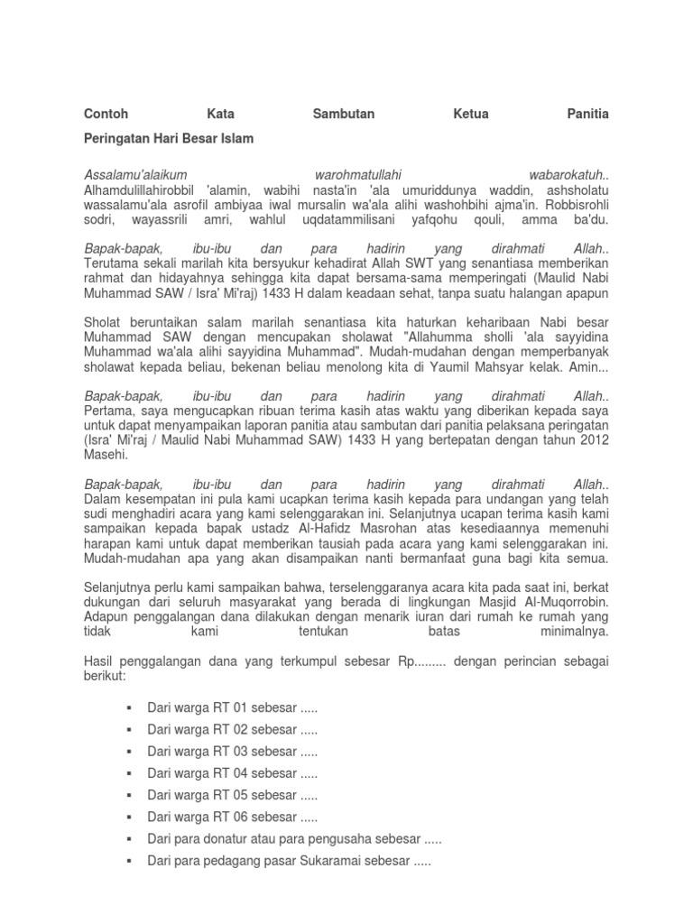 Contoh Teks Sambutan Ketua Panitia Wisuda Kumpulan Referensi Teks Pidato
