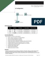 Lab 2 5 1 Basic Switch Configuration