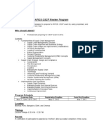 CSCP Open Training Program 120214