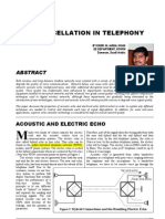 Echo Cancellation in Telephony