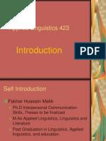 Applied Linguistics-An Introduction