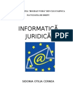 Informatica Juridica IFR - Sidonia Cernea