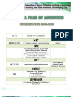 NFJPIA 2012-2013 General Plan of Activities