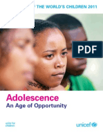Adolescence an Age of Opportunity