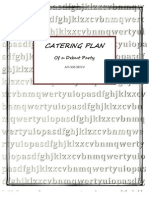 Catering Plan